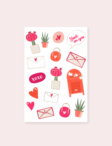 Love & Succulents Stickers