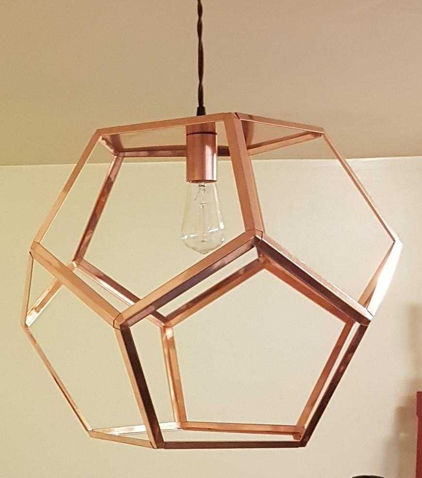 Copper pendant light dodecahedron copper pendant light copper dodecahedron copper pendant light aloadofball Images