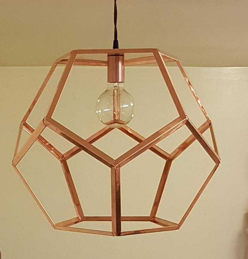 Copper pendant light dodecahedron copper pendant light copper dodecahedron copper pendant light mozeypictures Image collections