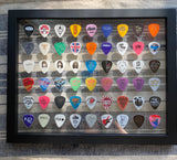 "Clear 11"" x 14"" Guitar Pick Display - Holds 54 Picks - FRAME INCLUDED!"