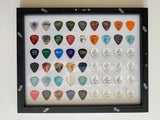 "WHITE 11"" x 14"" Guitar Pick Display - Holds 54 Picks - FRAME INCLUDED!"