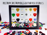 "8"" x 10"" Horizontal Guitar Pick Display Frame - CLEAR - Holds 24 Bass Guitar Picks"