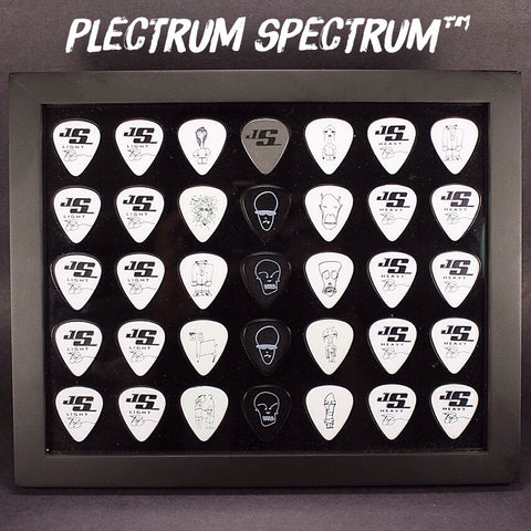 "8"" x 10"" Horizontal Guitar Pick Display Frame - BLACK - Holds 35 Guitar Picks"
