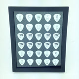 "8"" x 10"" Vertical Guitar Pick Display Frame - BLACK - Holds 30 Guitar Picks"