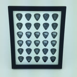 "8"" x 10"" Vertical Guitar Pick Display Frame - WHITE - Holds 30 Guitar Picks"