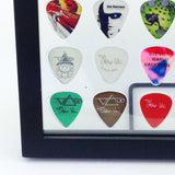 "BEST SELLER!!  8"" x 10"" Horizontal Guitar Pick Display Frame - Clear - Holds 35 Picks"