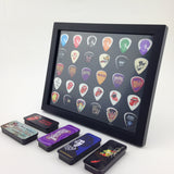 "8"" x 10"" Horizontal Guitar Pick Display Frame - Black - HOLDS 30 PICKS"