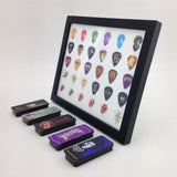"8"" x 10"" Horizontal Guitar Pick Display Frame - White - HOLDS 30 PICKS"