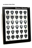 "8"" x 10"" Vertical Guitar Pick Display Frame - CLEAR - Holds 30 Guitar Picks"
