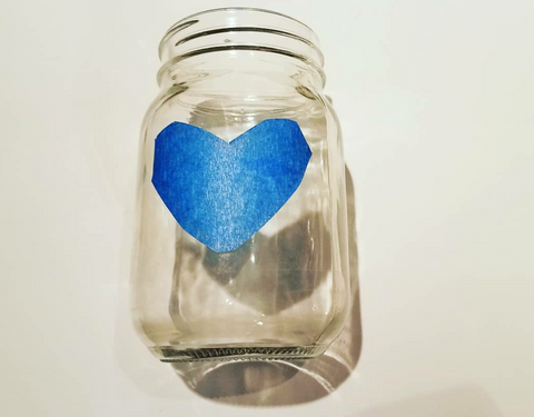 Handmade mason jar valentines gift candle holder heart