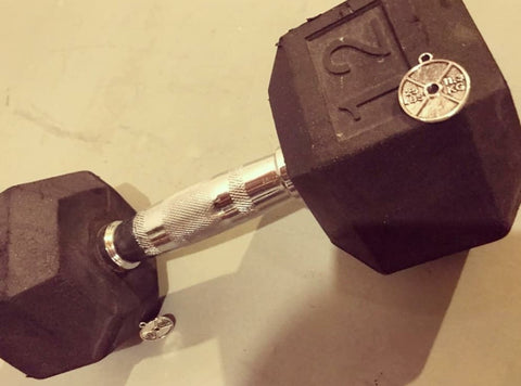weights charm fitness handmade jewelry