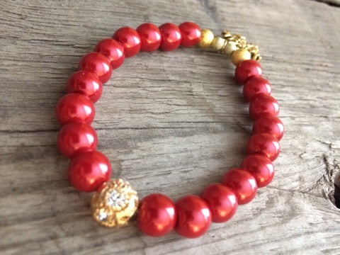 Berkley's Boutique - Hand Crafted Christmas Bracelet, Snowflake, Gold, Silver, Gifts For Her,  Gold Snowflake,Christmas Ideas, Maroon, Swarovski Elements,