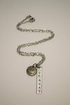 Aquarius Zodiac Off Beat Bar Necklace, Astrology, Nickel Free, Hand Made, Jewelry, Shop Local