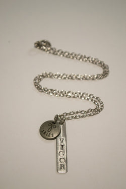 Berkley's Boutique - Aries Zodiac Vigor Bar Necklace, Astrology, Nickel Free, Hand Made, Jewelry, Shop Local
