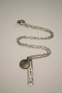 Crafted Jewelry Berkley's Boutique - Aries Zodiac Vigor Bar Necklace, Astrology, Nickel Free, Hand Made, Jewelry, Shop Local
