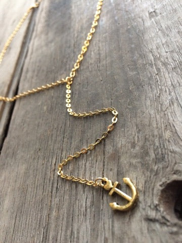 Berkleys Boutique - Hand Crafted Necklace, Anchor Necklace, Gold Anchor, Gifts For Her, Christmas Ideas, Heart and Anchor, Charms, Sparkle Gold