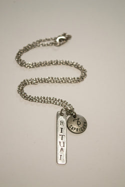 Berkley's Boutique - Capricorn Zodiac, Ritual Bar Necklace, Astrology, Nickel Free, Hand Made, Jewelry, Shop Local