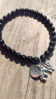 Black Onyx Beaded Lion Beast Bracelet - Berkley's Boutique