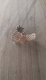 Gold Pineapple Earrings Studs - Berkley's Boutique