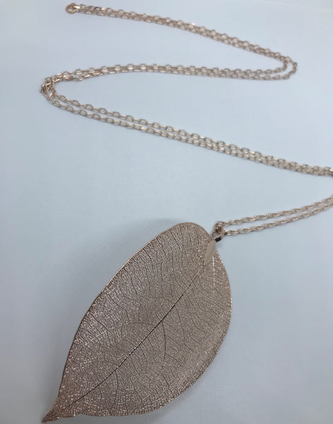 Growth Gold Leaf Necklace