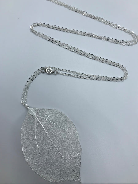 Growth Silver Leaf Necklace
