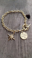 Berkley's Boutique - Our Original Gold Shine Bright Bracelet , Gold, Hand Stamped, Diamond, Star, Sparkle, Unique, Gifts For Her, Bracelet, Heart