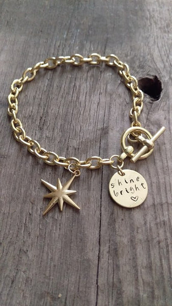 Gold Shine Bright Crafted Charm Bracelet - Out Of Stock - Berkley's Boutique