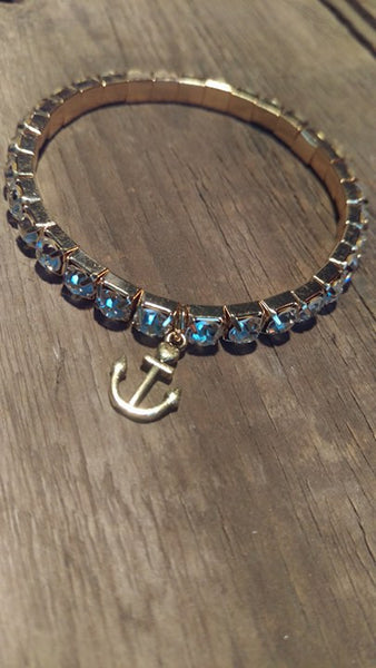 Berkley's Boutique - Nautical, Good Vibes, Gifts For Her, Anchor, Sparkle, Bracelet, Jewelry, Hand Made