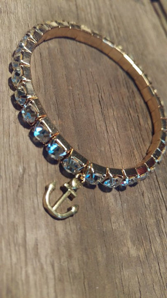 Sparkle & Anchor Gold/Silver - Bracelet - Berkley's Boutique