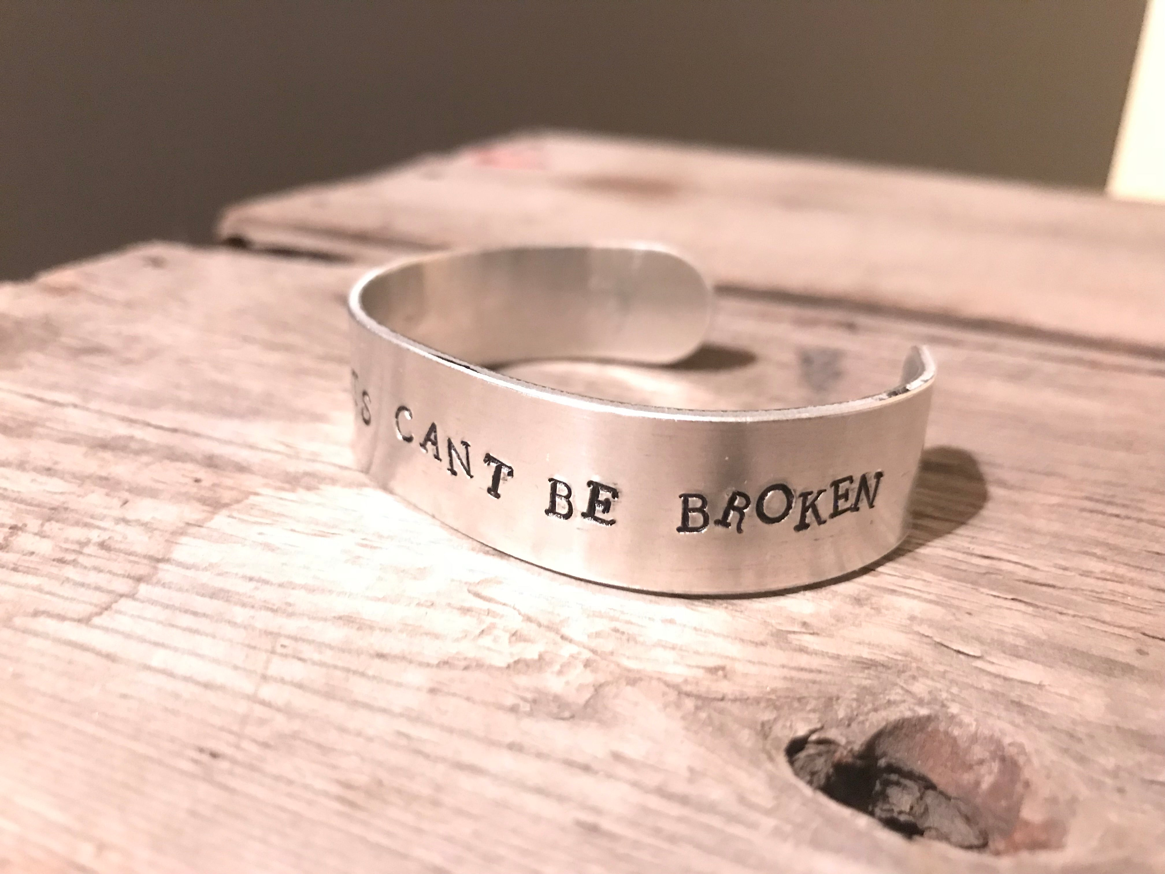 Wild Hearts Can't Be Broken - Beautiful, Gifts For Her, Ideas For Her, Silver Wrist Cuff, Hand Made, Hand Crafted