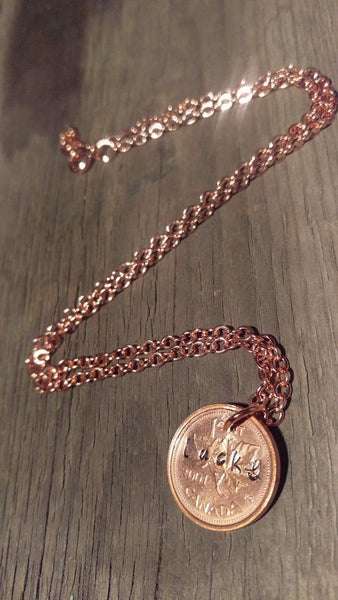 Lucky Penny Copper Necklace - Berkley's Boutique