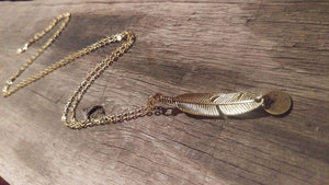 Gold Feather & Soar - Necklace