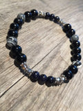 Stripes and Sparkle Gemstone - Bracelet - Berkley's Boutique