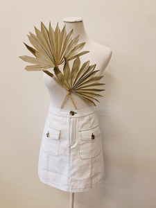 White Pocket Skirt