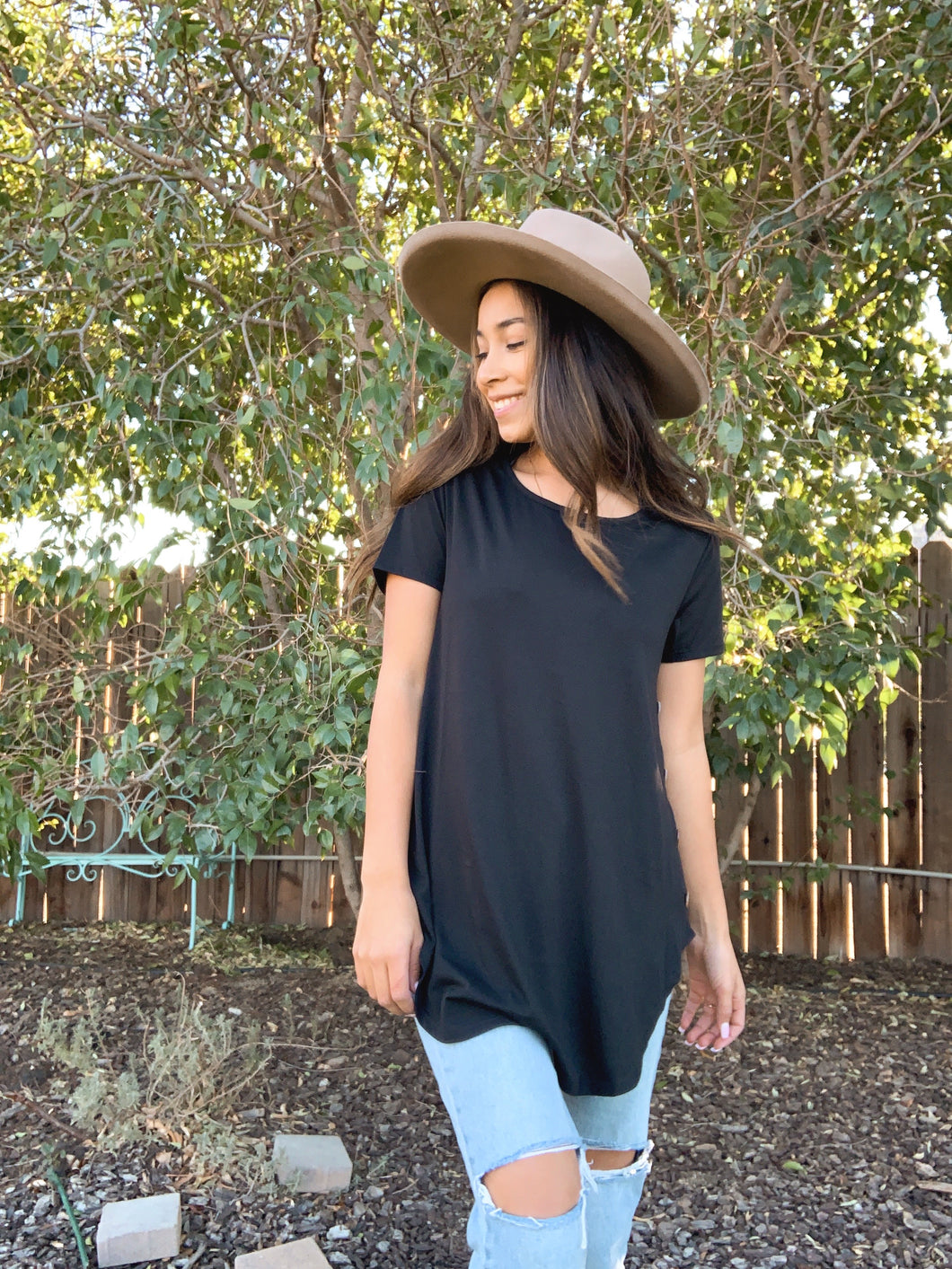 Button Up Buttercup Tunic Tee