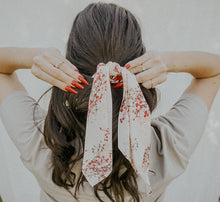 Load image into Gallery viewer, Floral Tail Scrunchie
