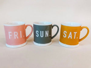 Weekday Mugs