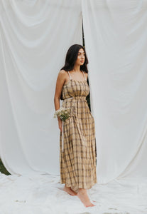 The Gwen Plaid Maxi Dress