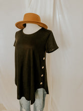 Load image into Gallery viewer, Button Up Buttercup Tunic Tee
