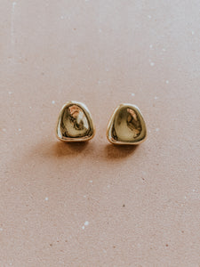 Warped Metallic Stud Earring