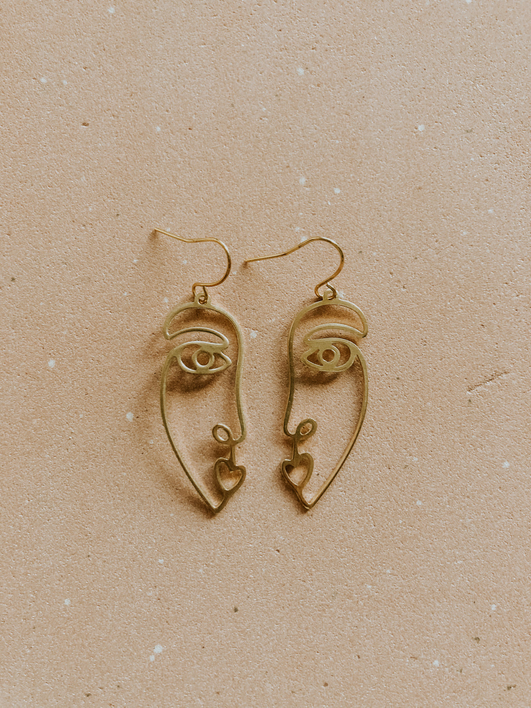 Brass Picasso Earring