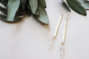 Bar & Stone Earrings