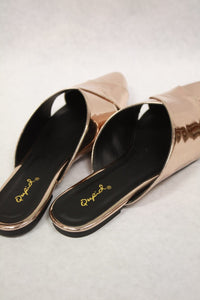 Rose Gold Swirl Slides - Birdie Boutique