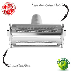 Julienne Peeler & Vegetable Peeler Stainless Steel by  Keri's Kitchen - Vegetables Peeler - 5