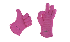 Silicone Heat Resistant Grill Cooking Gloves - Oven Mitts - 4