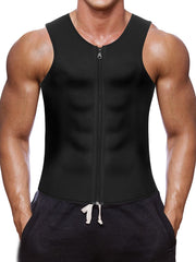 Neoprene Sauna Sweat Suits,Zipper Closure Tank top Shirt. Waist Trainer Vest For Workout Fitness