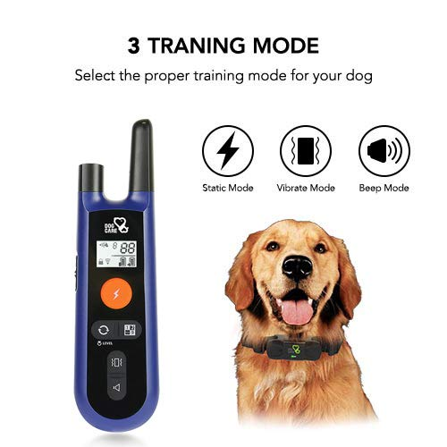Dog Training Collar - Upgraded Dog Shock Collar w/3 Training Modes, Beep, Vibration and Shock, Training Collar,