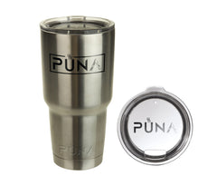 PUNA 30OZ STAINLESS TUMBLER WITH LID ALT. TO YETI RAMBLER ENGEL CUPS - Coffee - 3