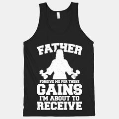 Father Forgive Me For These Gains I'm About To Receive Men's Tank Top - Shirts - 1