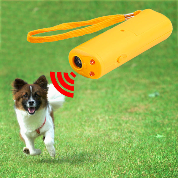 3 in 1 Dog Training Device Trainer With LED Anti Barking  Ultrasonic  Dog Repellent Barking Stop Control Pet